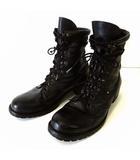 ブーツ ワークブーツ レースアップ バイカーブーツ 本革 レザー 42 黒 ブラック 27.0cm くつ 靴 シューズ