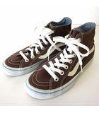 バンズ VANS スニーカー シューズ ハイカット キャンバス 22.5cm ブラウン 茶色 白 くつ 靴