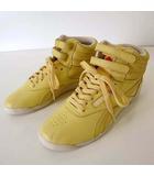 リーボック Reebok スニーカー シューズ ハイカット レザー 23.0cm 黄色 レモンイエロー くつ 靴