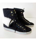 アディダスオリジナルス adidas originals スニーカー シューズ HONEY HI COLLEGIATE ハニーハイ カレッジ 裏ボア 24.0cm 紺 ネイビー くつ 靴