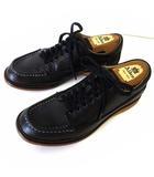 リーガル REGAL シューズ 革靴 ワークブーツ ショート 本革 レザー レースアップ 25.5cm 黒 ブラック くつ 靴
