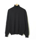 ヒューゴボス HUGO BOSS ニット セーター タートルネック エクストラファイン メリノ ウール 100% ロゴ 長袖 50 チャコールグレー