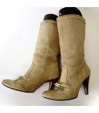 ディーゼル DIESEL ブーツ ハーフブーツ 本革 スエード レザー 37 ベージュ アイボリー 23.5cm くつ 靴 シューズ