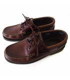 モカシン シューズ 革靴 本革 レザー 27.5cm ダークブラウン こげ茶色 くつ 靴
