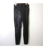 パンツ レザーパンツ テーパード 裾 ジップ M 黒 ブラック 美品