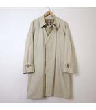 コート ステンカラーコート 裏ノバチェック ロゴ 刺繍 L ライトベージュ 紳士 ビジネス 通勤 アウター