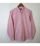 シャツ マルチ ストライプ ポニー 刺繍 コットン 長袖 The big Oxford 160 ピンク 水色 男の子 国内正規品