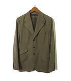 ジャケット ブレザー テーラード コットン ストレッチ シングル 3B 長袖 9 M ブラウンベージュ 国内正規品