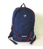 BMW Motorsport コラボ リュックサック デイパッグ Wネーム ロゴ ナイロン 青 ブルー 赤 白 かばん 鞄 カバン