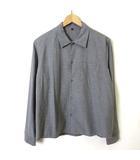シャツ カジュアルシャツ 長袖 コットン 長袖 S-M 杢 グレー
