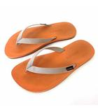 エルメス HERMES サンダル ビーチサンダル ロゴ 36 オレンジ ベージュ 23.0cm くつ 靴 シューズ