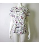 ニナリッチ NINA RICCI カットソー Tシャツ 半袖 ロゴ 総柄 コットン M 白 ホワイトマルチカラー イタリア製