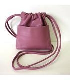 コズミックワンダー COSMIC WONDER バッグ ショルダーバッグ ポシェット 巾着 レザー 牛革 Light leather drawstring bag バイオレット くすみピンク紫 かばん 鞄 カバン