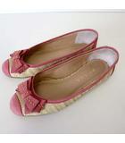 ダイアナ DIANA バレエシューズ フラットシューズ リボン レザー ラフィア ドッキング 230 ピンク ナチュラル くつ 靴 シューズ