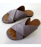 チエミハラ CHIE MIHARA サンダル コンフォートサンダル 本革 レザー 35 グレー グレージュ 22.5.cm スペイン製 くつ 靴 シューズ