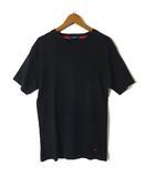 バーバリー BURBERRY Tシャツ 半袖 ホース ロゴ 刺繍 Vネック L 黒 ブラック 国内正規品