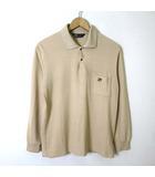 アーノルドパーマー Arnold Palmer ポロシャツ 長袖 ロゴ 刺繍 コットン 鹿の子 スナップボタン L ベージュ