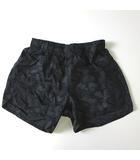 スキンズ SKINS ショートパンツ ランニングパンツ ロゴ 迷彩 カモフラ SRF6502P ナイロン M 黒 ブラック カーキ 国内正規品 美品