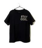 ステラマッカートニー STELLA McCARTNEY キッズ KIDS Tシャツ 半袖 ロゴ プリント 6歳 120 黒 ブラック ベージュ