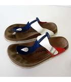 ビルケンシュトック BIRKENSTOCK Betula ベチュラ サンダル コンフォートサンダル トリコロールカラー 26.5 紺 白 ホワイト 赤 くつ 靴 シューズ