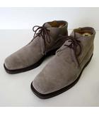 ストールマンテラッシ SUTOR MANTELLASSI ブーツ チャッカブーツ 本革 スエード レザー 40 グレー 25.0cm くつ 靴 シューズ 小さいサイズ