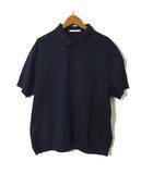 ポロシャツ 半袖 コットン 鹿の子 XL 紺 ネイビー 大きいサイズ 美品