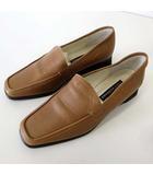 Linea yoshinoya ヨシノヤ ローファー スリッポン 本革 レザー 23.5 モカブラウン くつ 靴 シューズ