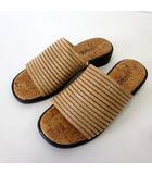 Tokuei サンダル スリッパ サボ レザー M 23.0cm ブラウン ウッド調 くつ 靴 シューズ 日本製