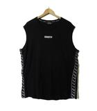 ヴァンキッシュ VANQUISH Tシャツ タンクトップ ノースリーブ ロゴ 刺繍 コットン ストレッチ XL 黒 ブラック 白 大きいサイズ