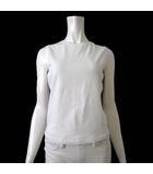 マックスマーラ ウィークエンドライン MAX MARA WEEKEND LINE Tシャツ カットソー ノースリーブ ストレッチ M 白 ホワイト 国内正規品