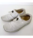 プラダスポーツ PRADA SPORT スリッポン スニーカー レザー 35 オフ白 ホワイト 22.0cm くつ 靴 シューズ