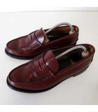 リーガル REGAL ローファー コインローファー ビジネスシューズ 革靴 25.5 EE 幅広 バーガンディ 赤茶色 くつ 靴 シューズ