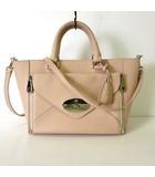 マルベリー Mulberry バッグ 2WAY スモール ウィロー トートバッグ レザー ピンク ベージュ ゴールド金具 牛革 かばん 鞄 カバン