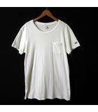 BLUE JEANS Tシャツ 半袖 ロゴ 刺繍 ポケット M 白 ホワイト
