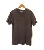 ノンネイティブ nonnative Tシャツ カットソー 半袖 Vネック S 1 ダークブラウン こげ茶色 日本製