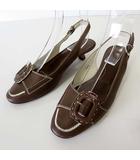 トッズ TOD'S パンプス バックストラップ 本革 レザー 35.5 モカ ブラウン 茶色 23.0cm くつ 靴 シューズ