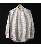 シャツ チェック ウインドペン ポニー 刺繍 ボタンダウン 長袖 オックスフォード L 14-16 白 赤 黒 国内正規品 ボーイズ