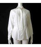 ナラカミーチェ NARA CAMICIE シャツ ブラウス 長袖 ステッチ 刺繍 コットン 1 M 白 ホワイト