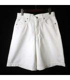 オムニゴッド OMNIGOD パンツ 5P キュロット ガウチョ ホワイト デニム ショーツ M 白 ホワイト タグ付 美品