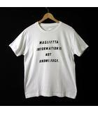ジュンハシモト junhashimoto Tシャツ 半袖 プリント コットン クルーネック M 白 ホワイト