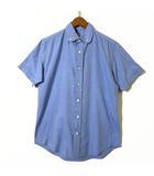 ミスターハリウッド N.HOOLYWOOD シャツ ボタンダウン 半袖 丸衿 コットン ブロード オックス 36 S 水色