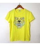 ケンゾー KENZO Tシャツ カットソー 半袖 ロゴ タイガー 虎 プリント M レモンイエロー 黄色 国内正規品