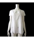 マックスマーラ MAX MARA チュニック ブラウス プルオーバー 半袖 刺繍 M 40 白 ホワイト 国内正規品