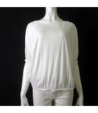デプレ DES PRES トゥモローランド カットソー ハーフスリーブ 半袖 バックオープン コットン 1 M 白 ホワイト 美品