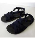 エドウィン EDWIN サンダル コンフォートサンダル グラディエーター 25.0cm 紺 ネイビー 黒 ブラック くつ 靴 シューズ