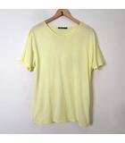 アレキサンダーワン ALEXANDER WANG Tシャツ カットソー 半袖 ラウンドネック M レモンイエロー 黄色