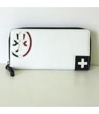 カステルバジャック CASTELBAJAC 財布 長財布 ラウンドファスナー パンセ シリーズ レザー 白 ホワイト 黒 赤 美品