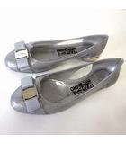 パンプス ラバーシューズ バレエシューズ VARA JELLY ヴァラ リボン 6 C シルバー ラメ 23.0cm 現行品 イタリア製 くつ 靴 シューズ