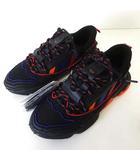 アディダス adidas スニーカー シューズ OZWEEGO ZIP オズウィーゴ ジップ 26.5cm 黒 ブラック 赤 オレンジ US 8.5 くつ 靴 シューズ 美品