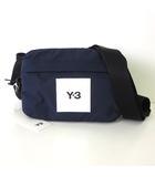 ワイスリー Y-3 バッグ ボディバッグ ロゴ 2WAY クラッシック スリングバッグ ナイロン 紺 ネイビー 黒 ブラック かばん 鞄 カバン タグ付 美品